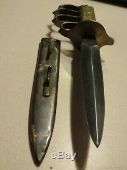 WW 1 Combat Trench Knife, brass, original
