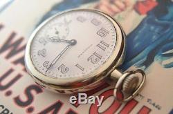 Waltham WW1 pocketwatch! Ca. 1917 Waltham trench era, porcelain military dial
