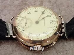 Waltham WWI Military Trench Watch In J Boss Keystone Case Needs Restoration