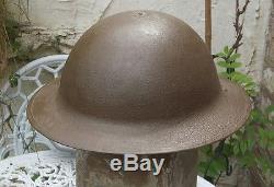 World War 1 British Army Original Brodie Helmet Restored
