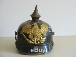 World War 1 German 1915 steel Picklehaube Helmet, it fits a smaller head