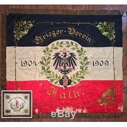 World War 1 WW1 Imperial German Silk Regimental Veterans Banner Standard Flag