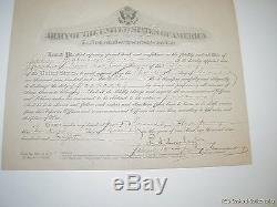 World War I Promotion Certificate Camp Merritt 1918 J Maluvino FREE US SHIPPING