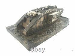 World War One Mark IV Male Tank Cold Cast Bronze Statue
