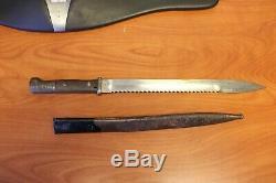 Ww1 1914 Sawback Bayonet German Samson werk Gew 98 Imperial Mauser Kar 98
