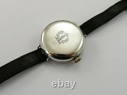 Ww1 1918 Unicorn Rolex Full Hunter Silver Family Crest Officers Trench Watch Vgc