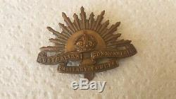 Ww1 Australian Lighthorse Tiptaft Hat Badge