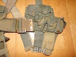Ww1 British Army 08 Webbing Set Original, Good Condition, Long Belt