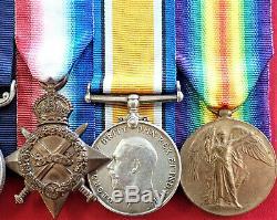 Ww1 British Army DCM & MM Trio Medal Group To 22614 Sgt Stewart Field Artillery