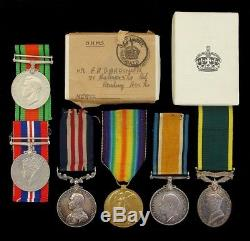 Ww1 British Military Medal Family Group Awarded To Corporal. B. Gardiner, R. E