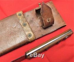 Ww1 British Or Australian Army Machete/sword In Leather Scabbard Sheffield