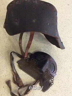 Ww1 British Tank Corps Helmet And Anti Splatter Mask