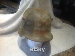 Ww1 German Helmet Shell M16 Stamped Et64 Original Shell