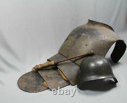 Ww1 German trench club helmet casque helm 1wk mazze ferrate