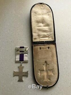 Ww1 Military Cross Medal With Bar Stg/sil