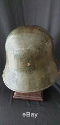 Ww1 Model 1917 German Green Helmet With Guard Insignia