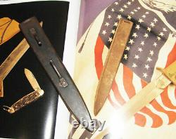 Ww1 Original Trench Fighting Knife U. S. 1918 Au Lion Scabbard