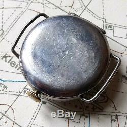 Ww1 Silver Trench Watch 1918 Hallmarked Army Military World War One Soldier