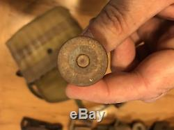Ww1 Trench Shotgun Ammo Bag With Over 25 Brass Shells
