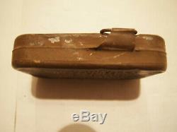 Ww1 Ww2 Usmc Rare First Aid Pouch And Usn 1918 1st Aid Tin