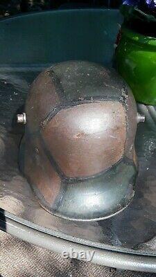 Ww1 Wwi German Camo Steel Helmet Rare Model'et64' M18, 100% Original