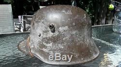 Ww1 Wwi German Helmet'bell-l64' M18, Complete-original