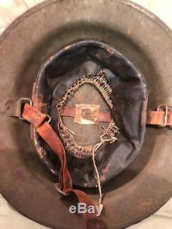 Ww1 doughboy helmet painted medical brigade, very nice piece of history