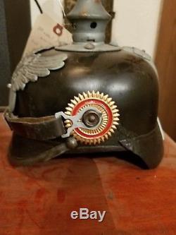 Ww1 german spike helmet 1915 baden infantry marked