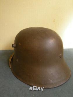 Wwi Austrian German 1917 Steel Combat Helmet, Exc. Cond, 100% Original, Aaa+++