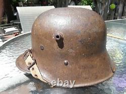 Wwi Austrian-german 1917 Steel Combat Helmet, Exc. Cond, 100% Original, Aaa+++