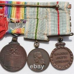 Wwi Balkan Wars Greece Montenegro Serbia Medal Bar Case Greek Royal Navy Officer