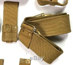 Wwi British P1908 P08 Webbing Equipment Set