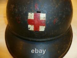 Wwi Coque Casque Adrian 1915 Infirmière Croix Rouge Fr Original Helmet Poilu