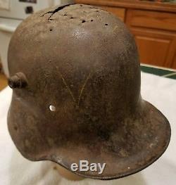 Wwi German M16 Camo Helmet Shell Feed Scoop Coal Bucket