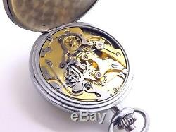 Wwi J. Auricoste French Military Chronograph Pocket Watch