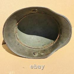 Wwi Ww1 German Camouflage Steel Helmet, Tj66, Model M17, Excellent, Aaa++